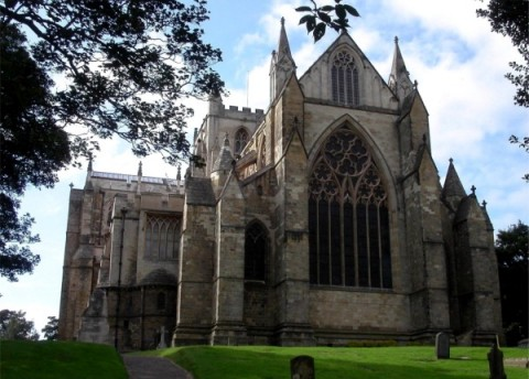 How one of England's most influential saints founded Ripon Cathedral, home to the Great North Art Show