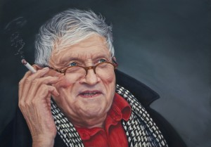 David Hockney portrait by Catherine Inglis