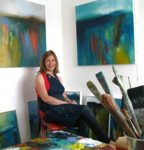 Julia Poulton in studio